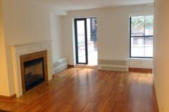 Large One Bedroom with Private Backyard Terrace and Working Fireplace -NO FEE