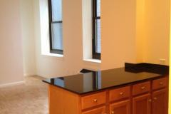 Living area/Kitchen Counter Top